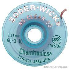 Chemtronics 60-3-10 Soder Wick No Clean Sd Desoldering Braid, 5 Pack