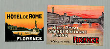 2  Vintage div. HOTEL LABELS Luggage Labels Florenze