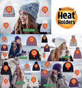 NEW Ladies GENUINE Heat Holders Heatweaver Thermal Winter Warm Beanie HAT