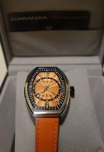 Montres De Luxe Women's EX L 9203 Estremo Quartz ORANGE Dial Watch new $1400