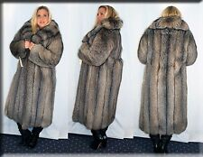 New Silver Shadow Fox Fur Coat Size Medium 6 8 M Efurs4less