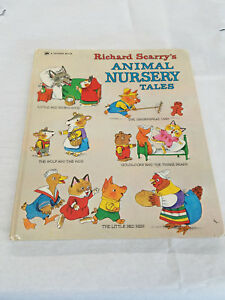 Golden Book Richard Scarry's Nursery Tales by Richard Scarry 1976 Hardcover book