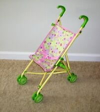 Vintage Green/Cream Cabbage Patch Kids CPK Doll Fold Up Stroller