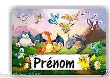 Plaque de porte en ( sur ) bois  Pokémon   avec prénom   N° 152