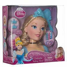 Disney Princess Cinderella Hair Styling Head Inc Accessories New Boxed Toy