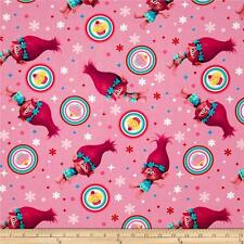Dreamworks Trolls 59740 Poppy Cupcake Toss 100% Cotton Fabric by the yard