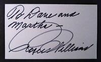 Roger Williams Famous Pianist Signed Autograph 3X5 INDEX CARD. LIFETIMECOA.