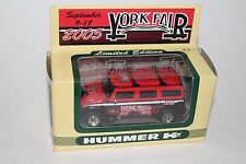Fleer Collectibles 2005 York Fair, Hummer H2 Limited Edition Collectible Car