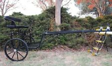 """Ez Entry Horse Cart-Cob & Full Size w/Steel """"C"""" Springs w/24"""" Solid Rubber Tires"""