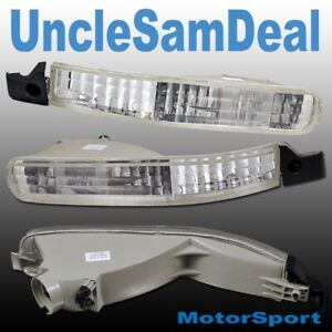 FOR 92-93 HONDA ACCORD FRONT BUMPER CLEAR CORNER SIGNAL LIGHTS CHROME PAIR