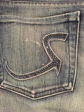 RARE Rock & Republic ROTH Dark Purple Stud R Pocket Jeans 30