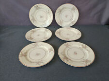 "Princess China Empcraft (USA) Pink/Gray Floral 8"" Salad/Side Plates - Set of 6"