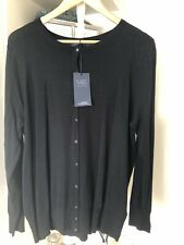 Marks And Spencers Navy Long Lasting Colour Cardigan New Size 24