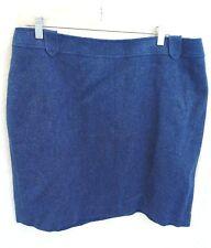 NWT TALBOTS Bue Wool Skirt Sz 18W Plus $119 Herringbone Tweed