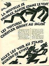 Publicité Ancienne  Voiture Automobile CHRYSLER 1926  P 34