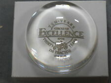 John Deere 110 Lawn Garden Tractor Glass Paperweight Circle of Excellence RARE