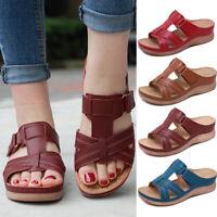 BESTWALK Premium Orthopedic Open Toe Sandals Women Summer Outdoor Slipper Shoes