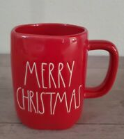 NEW RAE DUNN by Magenta Red MERRY CHRISTMAS Coffee Tea Mug Farmhouse Home Decor