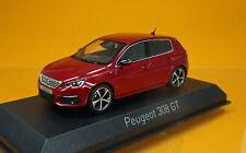 Norev 473815 Peugeot 308 Gt Ultimate Red Model 2017 Scale 1 43 Ovp