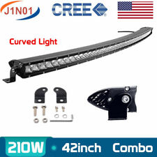 "42"" 210W CREE LED Work Light Bar Curved Driving Fog Lamp Single Row Combo VS 240"