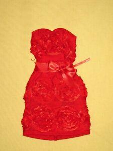 """Ginny Liezert - Red Rosette Cocktail Dress 16"""" Tyler Fashion Doll Dress"""