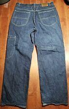 MARITHE FRANCOIS GIRBAUD Pants Blue Denim Jeans Double Stitch 38M 38x34 A919