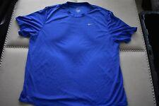 Mens NIKE Dri-Fit Short Sleeve Blue Polyester Athletic Fitness Shirt NWOT XL
