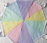 Rainbow Pastel Dotty Multi Fabric Bunting Bundle 20ft /6m Easter Spring Weddings