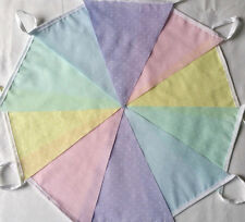 Rainbow Pastel Dotty Multi Fabric Bunting Bundle 20ft /6m Easter Spring Weddings