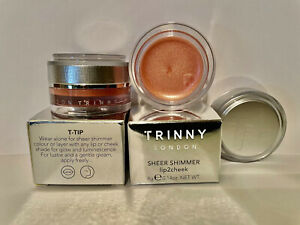 2 X Trinny London - Sheer Shimmer Lip2cheek. Two Shade Bunny ,New In Box!!!