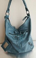 Borsa Balenciaga verde acqua day bag pelle
