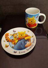 Disney Winnie The Pooh Cup Mug and Saucer Plate Kinnerton Gift Eeyore Tigger