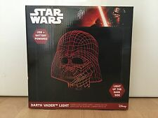 Official Disney Star Wars 3D Effect LED Light Darth Vader Red Mood Lamp