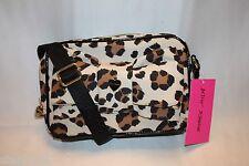 NWT! NEW! BETSEY JOHNSON Nylon Cheetah Enamel Bow LUXE LEO Crossbody Bag $68