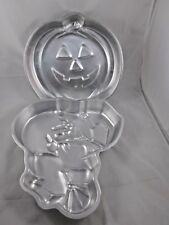 Wilton Wicked Witch on Broom & Pumpkin Jack-o-Lantern Halloween Cake Pan