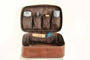 Leather toiletry bag men - Personalized mens toiletry bag - Dopp kit - For him