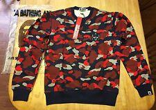 RARE NWT Mens Ape A Bathing Ape Transformers Camp Crewneck Sweatshirt Medium