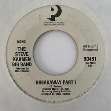 Northern Soul 45 STEVE KARMEN BIG BAND Breakaway feat. JIMMY RADCLIFFE HEAR Re