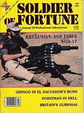 Soldier Of Fortune Magazine February Feb. 1983 Great Shape See My Store
