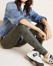 NWT Spanx Faux Leather Leggings Matte Green Camo Size S