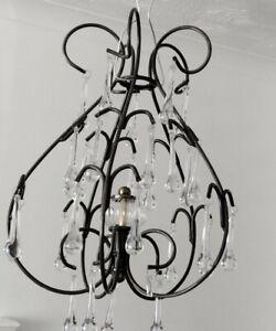 Laura Ashley Metal Chandelier Glass crystals Retro Vintage Home Lighting decor