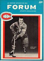 1964 (Dec. 5)  Hockey Program, Chicago Blackhawks @ Montreal Canadiens ~ VG