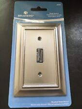 BRAINERD ARCHITECTURAL SINGLE SWITCH NICKEL OUTLET WALL PLATE 64209  FREE SHIP