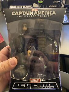 "Winter Soldier Marvel Legends 6"" Mandroid BAF Captain America Wave Bucky Barnes"