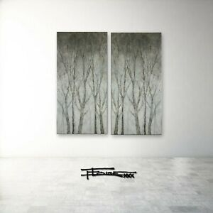 Two Piece Painting, 60 x 60 Canvas Wall Art, Large, Framed, Signed, US ELOISExxx