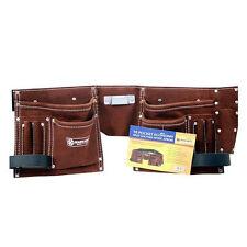 10 poches double split daim cuir outil ceinture pochette bâtisseur sac de rangement pouche
