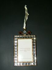 "Vintage New Pottery Barn 2x3"" Clear  Multi Jeweled Hanging Picture Frame"