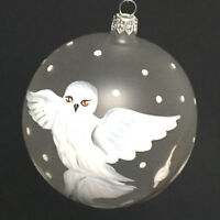 Hand Painted Owl Christmas Limited Edition Ornament Mouth Blown Italy