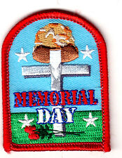 """MEMORIAL DAY"" - SOLDIER - IRON ON PATCH - FLAG - PATRIOTIC - FREEDOM - MILITARY"