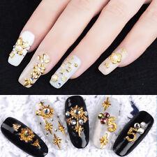 3D Nail Art Decoration Ocean Luxury Alloy Jewelry Glitter Rhinestones +Wheel*